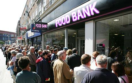 Food bank queue
